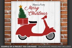 Scooter SVG - Have a Merry Christmas Scooter SVG - 32 Product Image 1
