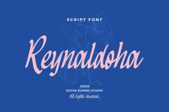 Casual Script Font - Reynaldoha Product Image 1
