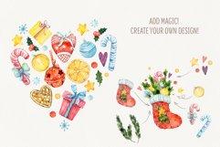 Magic Christmas. Watercolor cartoon cliparts Product Image 5