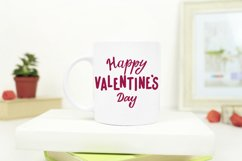 Happy Valentine's Day. Hand letttering phrase, vector. SVG Product Image 2