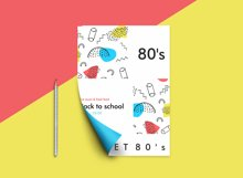 Sweet 80's! Vintage hand drawn patterns collection Product Image 5