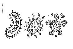 15 Virus Hand drawn Illustration Vector Product Image 3