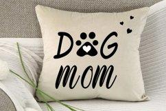 Dog mom cut file, dog mama svg, dog paw print svg, dog lover Product Image 2