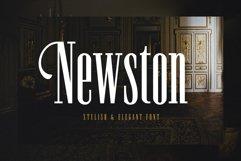 Newston - Stylish Serif Font Product Image 1