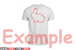 Easter bunny SVG shirt bunny ears outline frame 635S Product Image 3