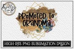 Promoted To Grandma - A Floral PNG Sublimation Design Bundle Product Image 3