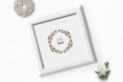 Hand-drawn Christmas clipart| Christmas wreath clipart Product Image 4