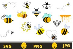 Bee svg bundle | Bumble bee svg Product Image 1