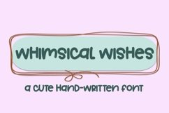 Web Font Whimsical Wishes - A Cute Hand-Written Font Product Image 1