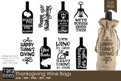Thanksgiving Wine Bags - SVG and Cut Files for Crafters Product Image 1