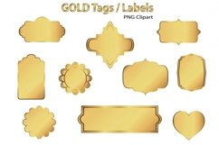 Gold Clip Art Tags and Labels Product Image 2