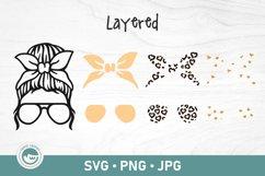 Mom life Kid Life SVG   Messy Bun SVG Product Image 2