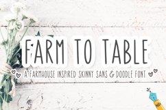 Farm To Table - A Farmhouse Skinny Sans & Doodle Font Product Image 1