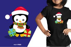 Baby Penguin Giftbox T-Shirt Design | Sublimation T-Shirt Product Image 3