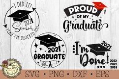 Graduation SVG Bundle-2021 Senior-Graduation Cap SVG Product Image 1