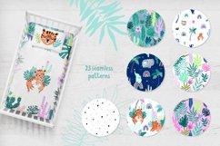 Nursery Art Jungle Animals Illustrations Patters & More Bund Product Image 2