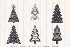Scandinavian Style X-mas Trees SVG Bundle, Christmas Decor Product Image 5