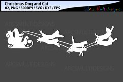 Christmas dog svg / Christmas cat svg / sleigh ride svg Product Image 3