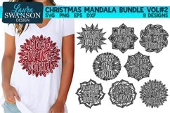 Christmas Mandala Bundle Vol#2 - SVG, PNG, EPS, DXF Product Image 1
