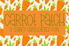 Carrot Patch - A Quirky Handlettered Font Product Image 1