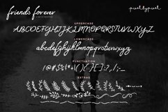 Friends Forever Font & Floral Extras Product Image 5