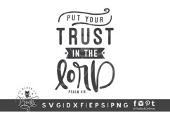 Put Your Trust In The Lord SVG   Bible Verse SVG Cut File Product Image 1
