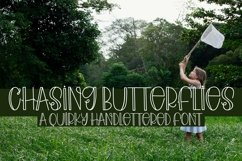 Web Font Chasing Butterflies - A Quirky Hand-Lettered Font Product Image 1