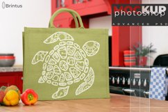 Photoshop mockup Burlap shopping-bag, tote bag, jute bag Product Image 4