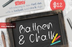 Ballpen and Chalk Typeface Product Image 2