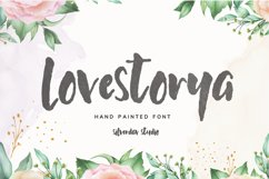 Love Storya - Hand Painted Font Product Image 1