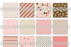 Baby Girl Digital Paper in Pinks and Browns Product Image 2
