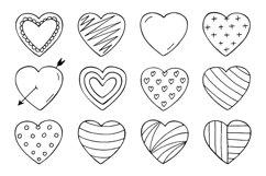 Hand drawn hearts + seamless pattern Product Image 4
