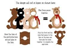 Bear, Egg holder design SVG / DXF / EPS files Product Image 2
