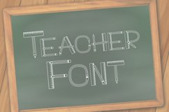 Teacher Monogram Font Product Image 1
