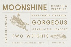 Moonshine Font   A Classic Sans Serif Product Image 1