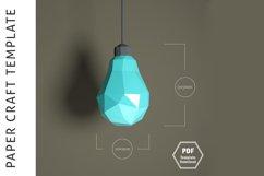Lowpoly 3D Bulb/Papercraft/3D Papercraft/Papercraft Pdf Product Image 2