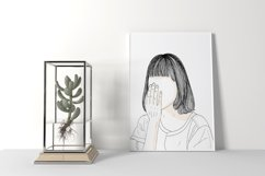 Art Print | The image of the girl's face covering her face Product Image 4