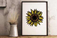 Sunflower PNG Sunflower clipart Sunflower shirt Sublimation Product Image 4