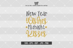 New Year Wishes Midnight Kisses SVG Product Image 1