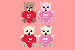 Valentine Heart Bundle Clipart, Conversation Hearts, PNG Product Image 4