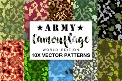 10 Army Camouflage Patterns Vectors Product Image 3