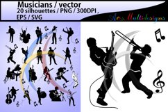 Musicians SVG / Musicians silhouette / Musicians clipart / Musicians cricut file / band silhouette scrapbook kit / music / digital file / EPS Product Image 1