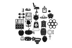 Perfect body icons set, simple style Product Image 1