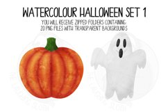 Watercolor Halloween Clip Art Set 1 Product Image 5