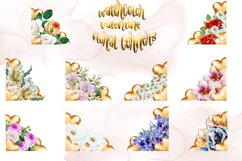 Watercolor Valentine Floral Corners Product Image 2