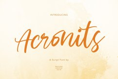 Acronits Script Font Product Image 1