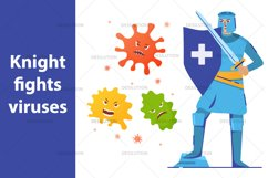 Medical knight fights viruses Product Image 1