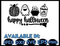 Pumpkin svg JPEG Silhouette Cameo Cricut halloween leopard Product Image 3