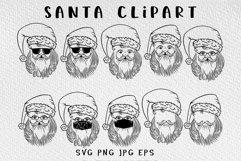 Santa Christmas svg bundle Product Image 5