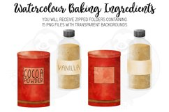 Baking Ingredients Watercolour Clipart Product Image 3